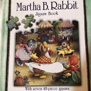 Shirley Barbers.Martha B. Rabbit Jigsaw Book 2001